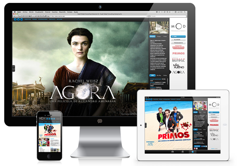 A great web design by Pedro M. Ríos, Madrid, Spain:
