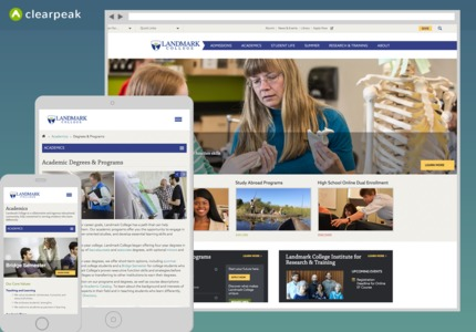 A great web design by Clearpeak, Boston, MA: Responsive Website, Social/Community , Education , ExpressionEngine