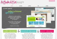 A great web design by Bella Ambition Designs, Los Angeles, CA: Website, Service