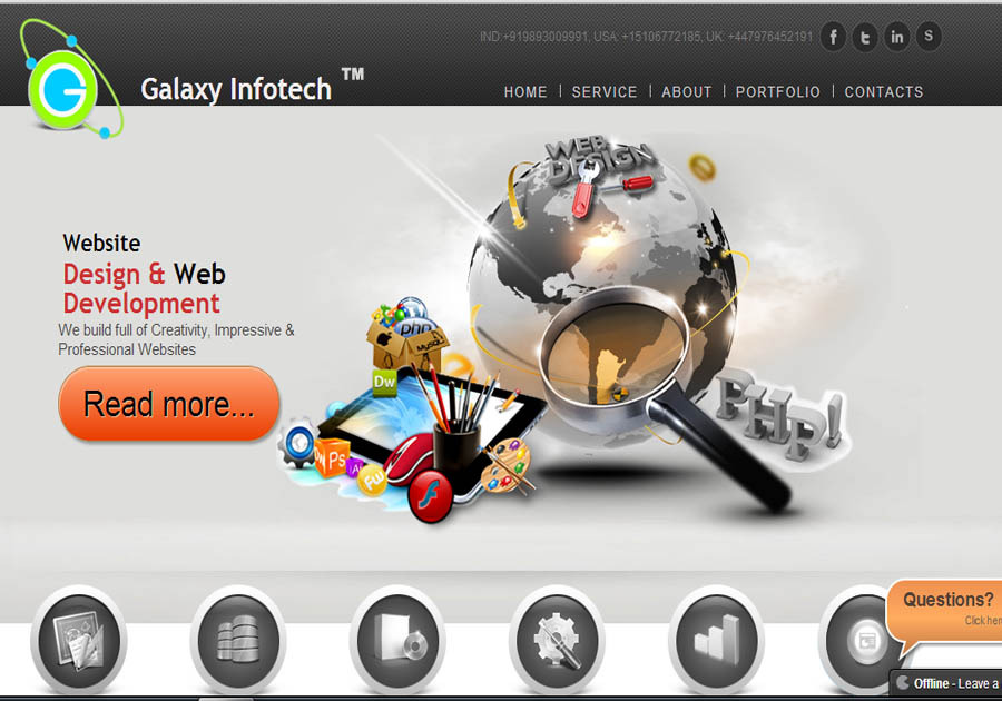 A great web design by Galaxyinfotech-com, San Francisco, CA: