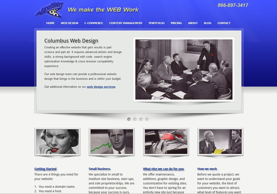 A great web design by jhWebWorks, LLC, Columbus, OH: