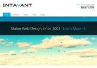 A great web design by Intavant, Portland, ME: