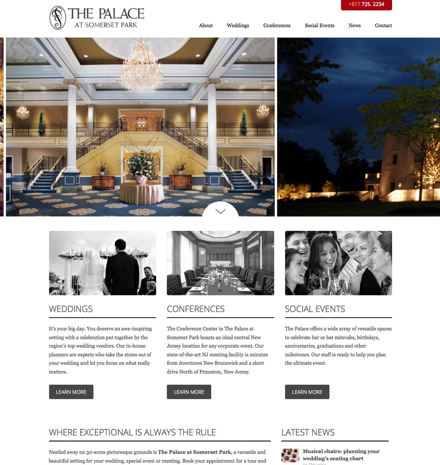 A great web design by Wear Interactive, New York, NY: Responsive Website, Marketing Website , Hospitality