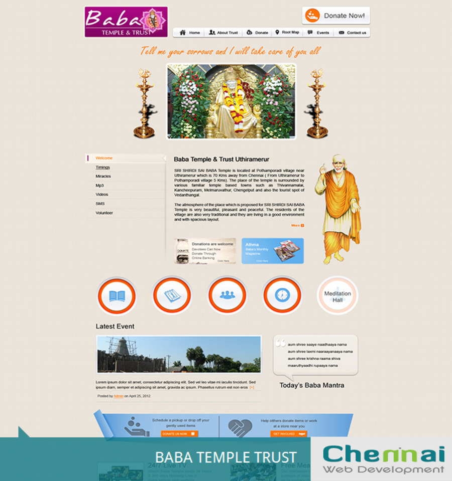 A great web design by Chennai Web Development, Dallas, TX: