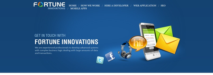 A great web design by Fortune Innovations Liverpool, Liverpool, United Kingdom: