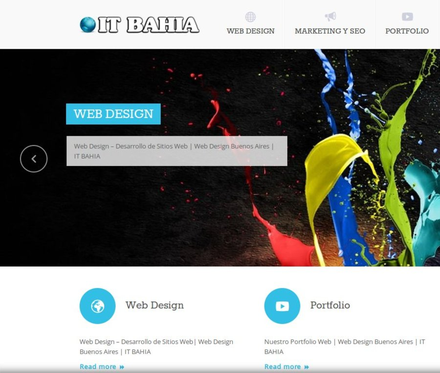 A great web design by IT BAHIA, Ciudad de Buenos Aires, Argentina: