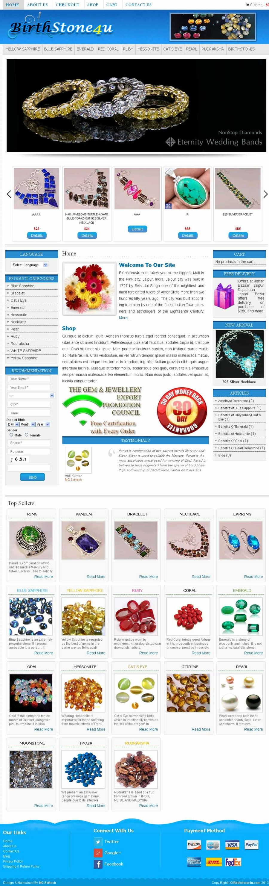 A great web design by NG Softech, Jaipur, India: