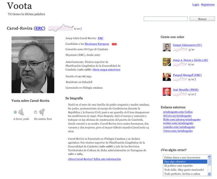 A great web design by Seisdeagosto, Madrid, Spain: