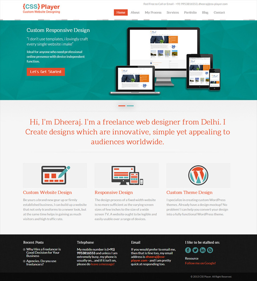 A great web design by Mockup Designer, New Delhi, India: