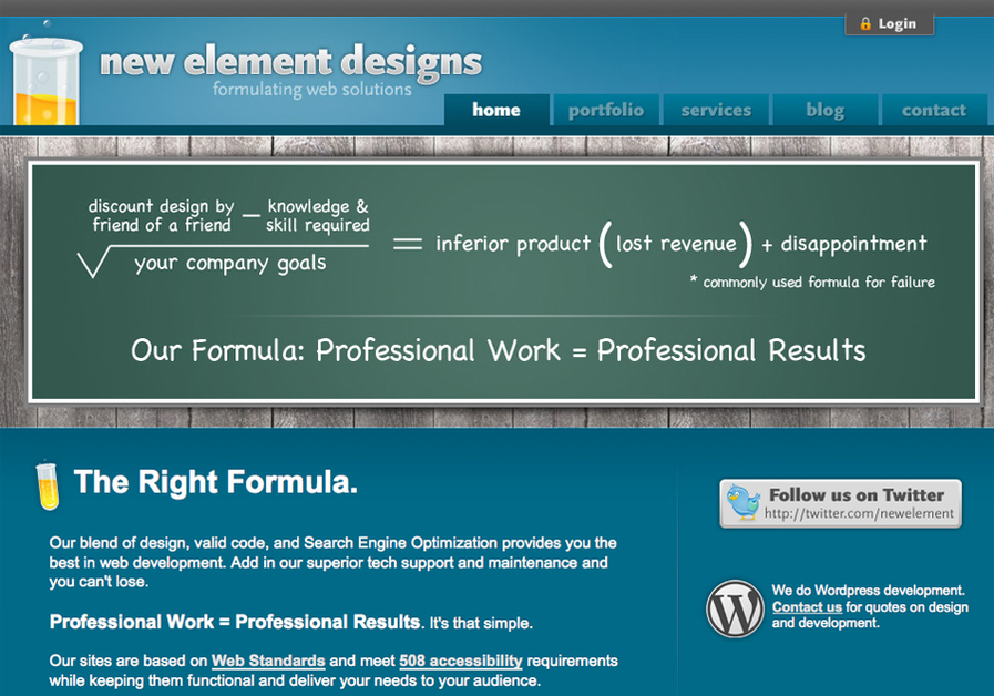 A great web design by New Element Designs, Winston Salem, NC: