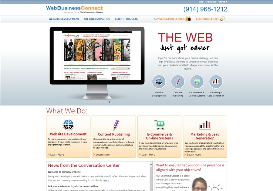 A great web design by The Computer Studio, Westchester, NY: