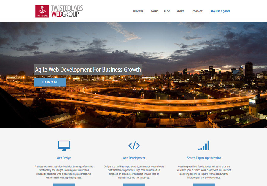 A great web design by Twisted Labs, Johannesburg, South Africa: