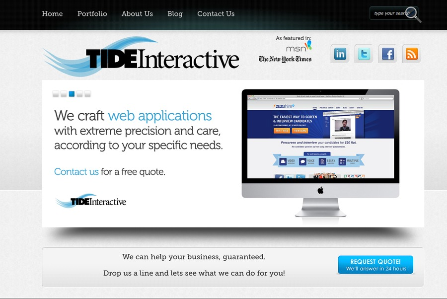 A great web design by Tide Interactive, Portland, OR: Website, Portfolio , Technology , Wordpress