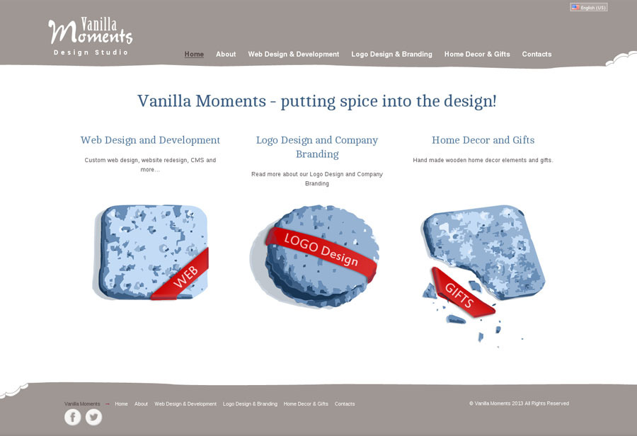 A great web design by Vanilla Moments, Kaunas, Lithuania: