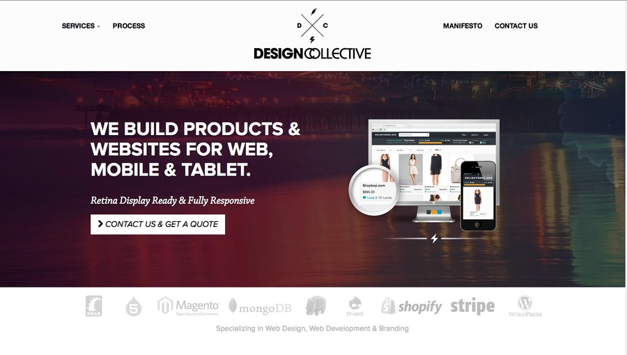 A great web design by Design Collective, Los Angeles, CA: Responsive Website, Web Application , Ruby on Rails