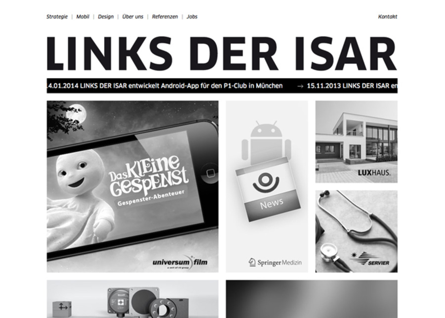 A great web design by LINKS DER ISAR GmbH, Munich, Germany: