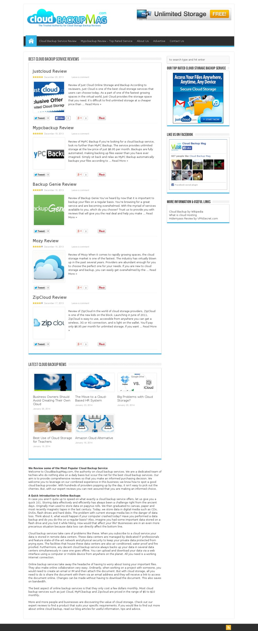 A great web design by Cloud Backup Mag, London, United Kingdom: