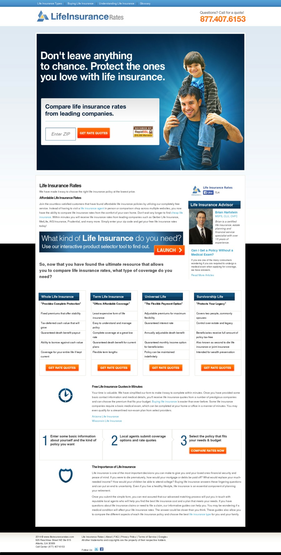 A great web design by life insurance quotes online, New York, NY:
