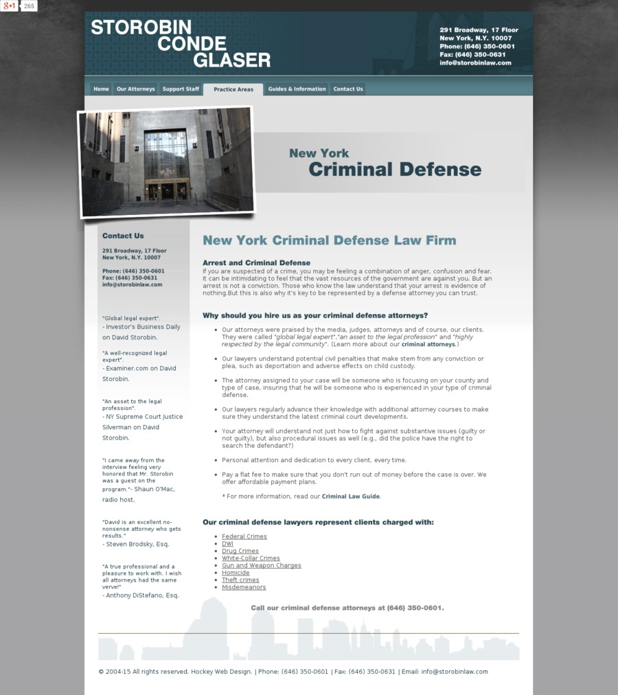 A great web design by New york dwi lawyer, New York, NY: