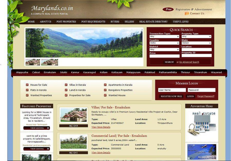 A great web design by Inter Smart Solution, London, United Kingdom: Website, Web Application , Real Estate , PHP