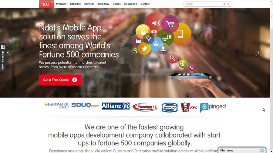 A great web design by Ndot Technologies, Coimbatore, India: Mobile App , Technology