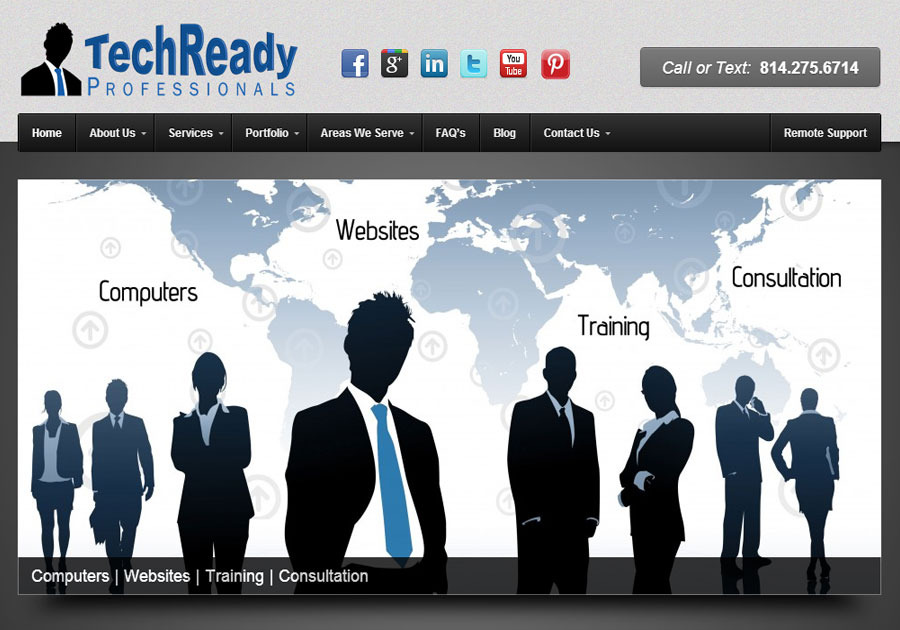 A great web design by TechReady Professionals, Clarion, PA: Website, Portfolio , Service , Wordpress