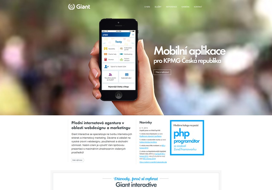 A great web design by Giant interactive, Prague, Czech Republic: Website, Portfolio , Internet , PHP