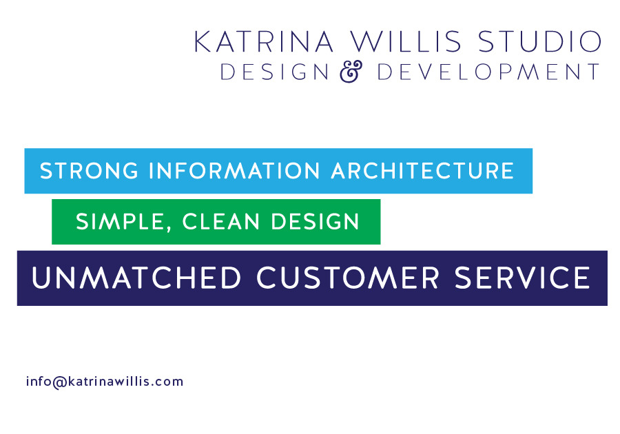 A great web design by Katrina Willis Studio, Chicago, IL: