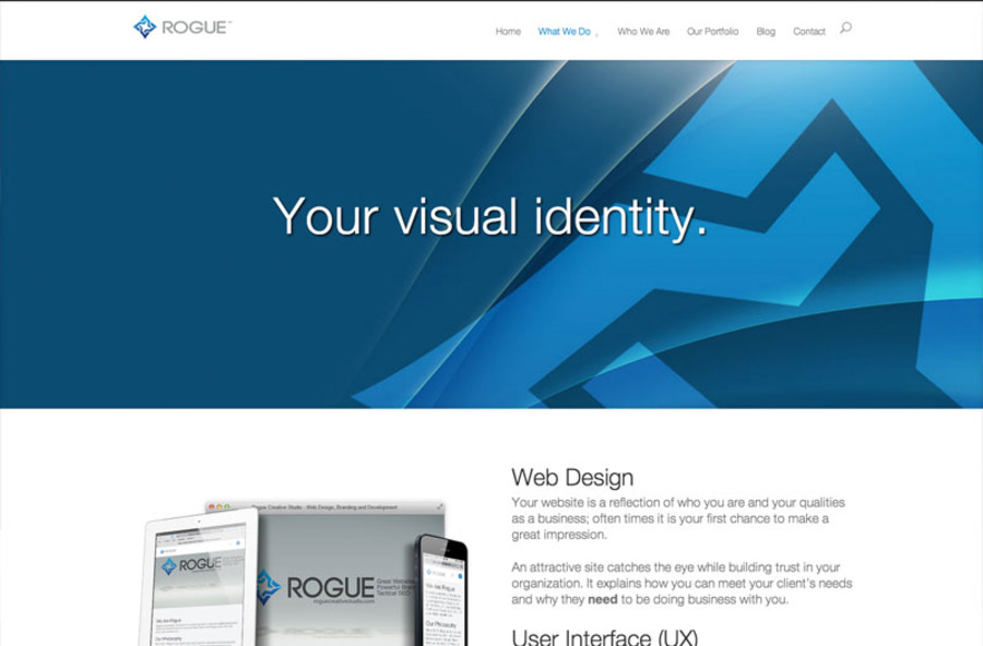 A great web design by Rogue Creative Studio, Las Vegas, NV: