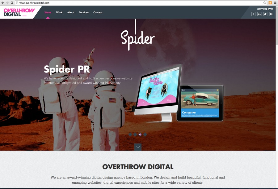 A great web design by Overthrow Digital, London, United Kingdom: Responsive Website, Other, Marketing