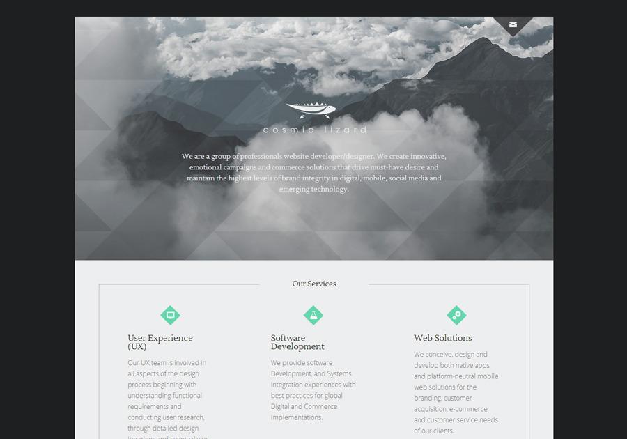 A great web design by Cosmic Lizard, Fishers, IN: