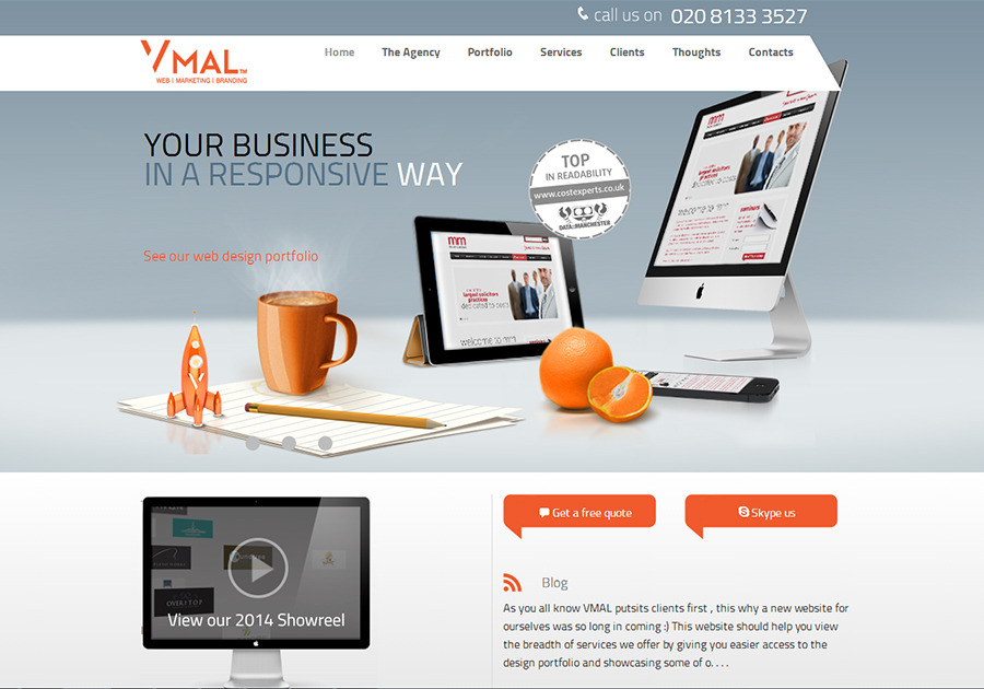 A great web design by VMAL Ltd, London, United Kingdom: