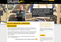 A great web design by Steel Horse Automotive, London, Canada: