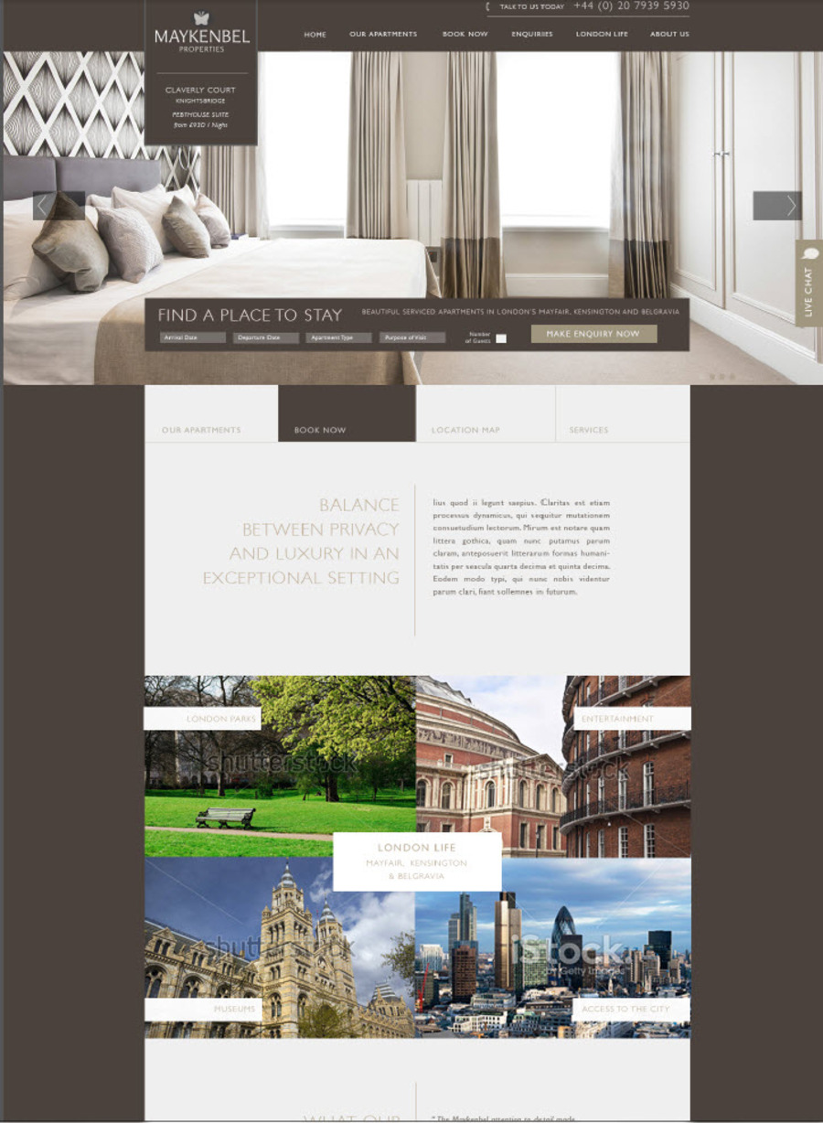 A great web design by Barefoot SEO, London, United Kingdom: