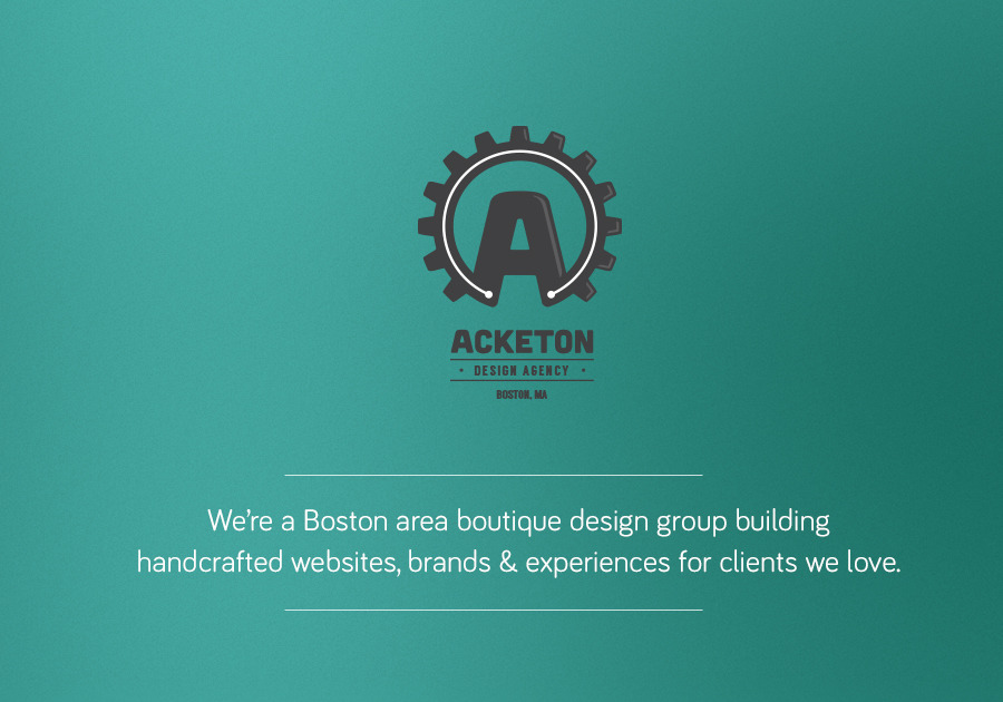 A great web design by Acketon, Boston, MA: