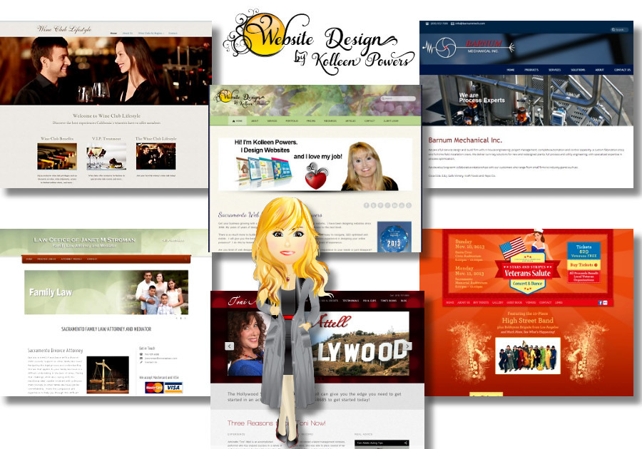 A great web design by Web Design by Kolleen Powers, Sacramento, CA: