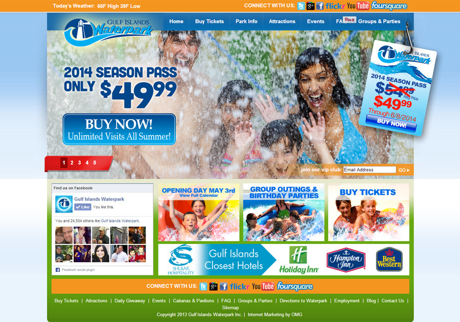 A great web design by OMG Marketing, LLC, Orlando, FL: