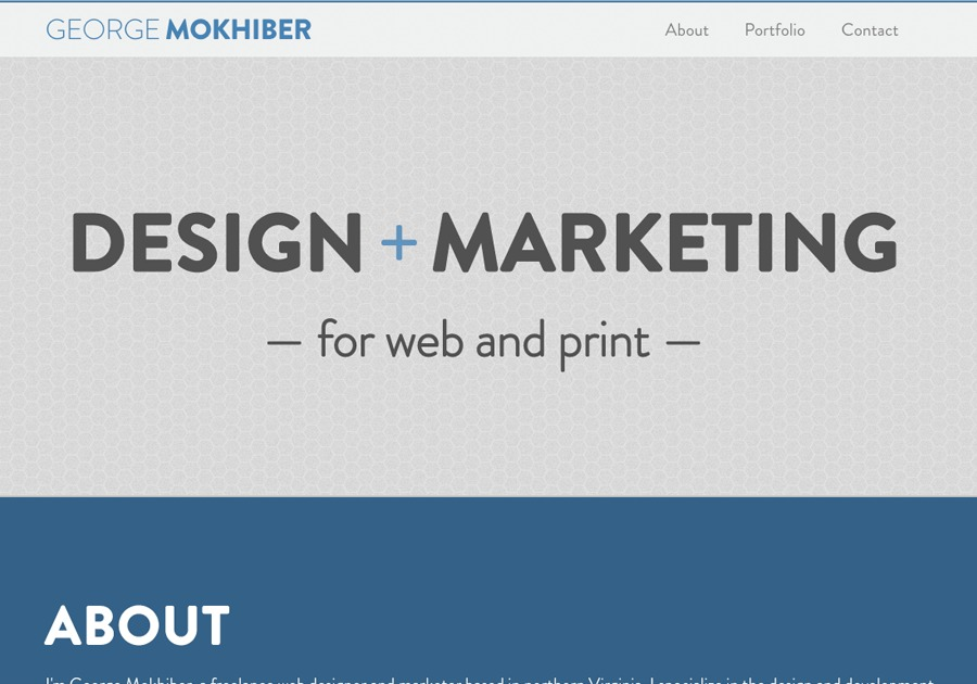 A great web design by George Mokhiber, Washington DC, DC: