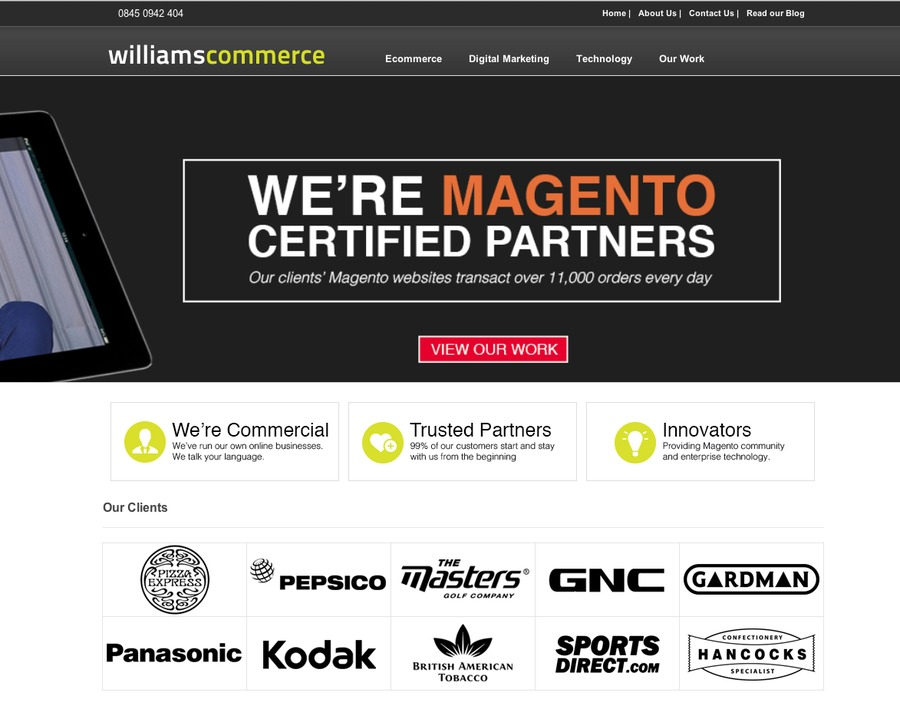 A great web design by Williams Commerce, Leicester, United Kingdom: