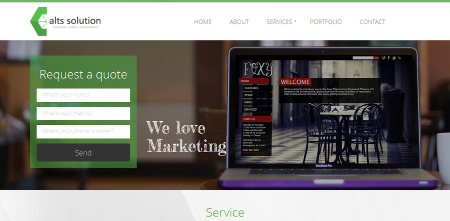 A great web design by alts solution, Minneapolis, MN: