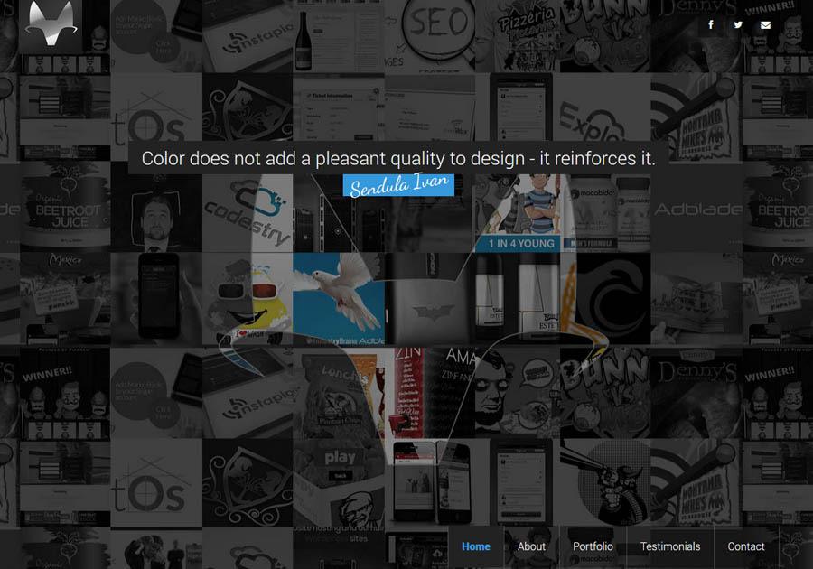 A great web design by Sendula Ivan, Belgrade, Serbia: