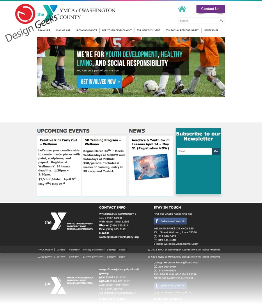 A great web design by Design Geeks, Inc., Boston, MA: