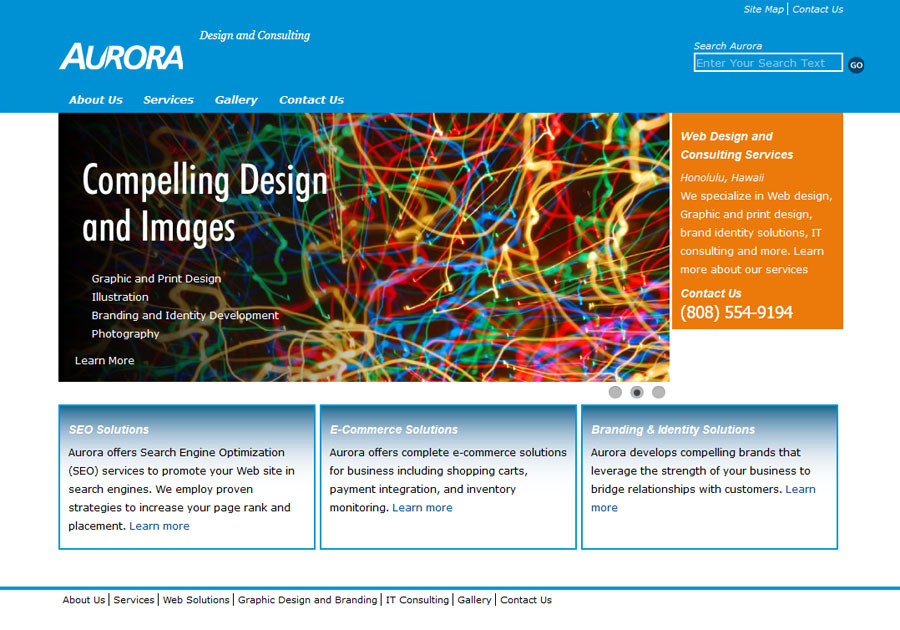 A great web design by Aurora Design and Consulting, Honolulu, HI: