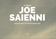 A great web design by Joe Saienni, Raleigh, NC: