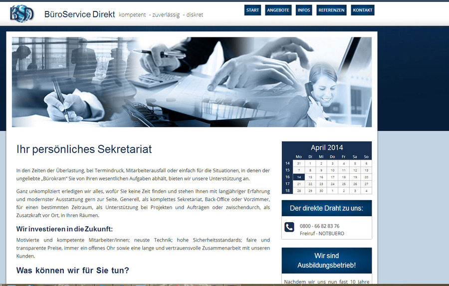 A great web design by Eberlei-Datenservice, Berlin, Germany: