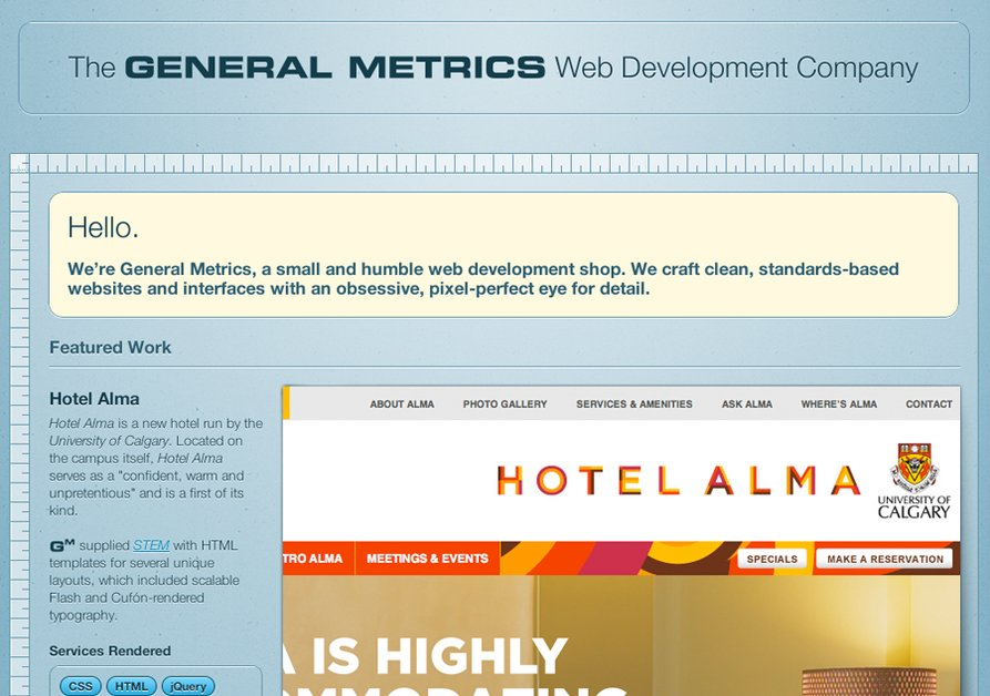 A great web design by General Metrics, Vancouver, Canada: