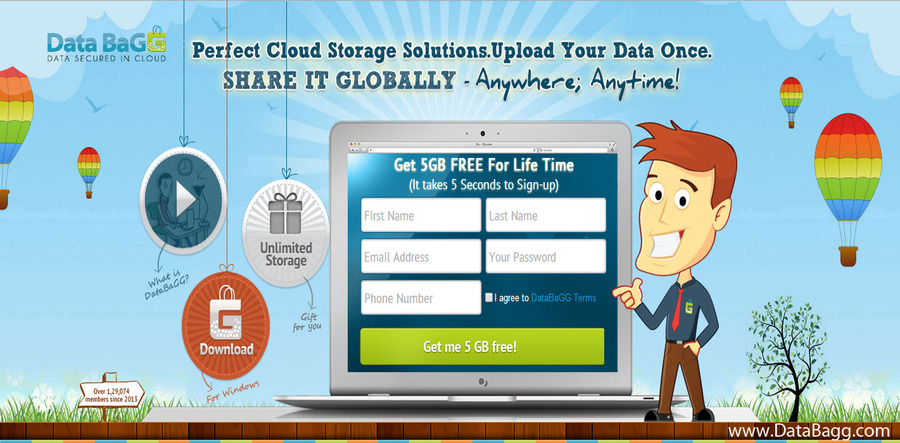 A great web design by DataBagg - Online Data Storage, New York, NY: