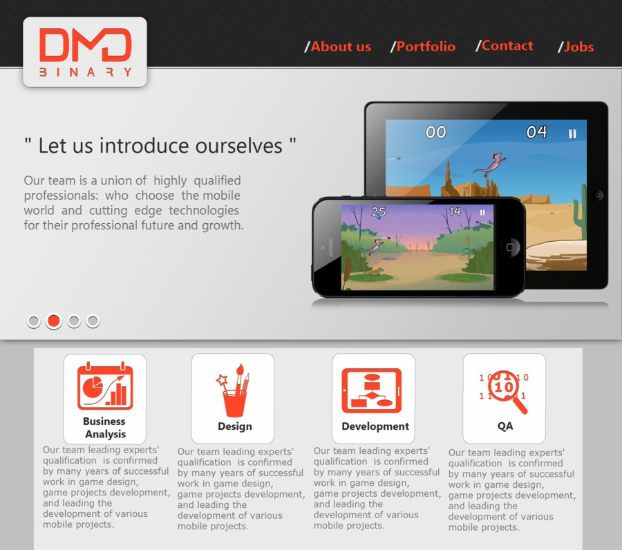 A great web design by DMD Binary, Kharkiv, Ukraine: