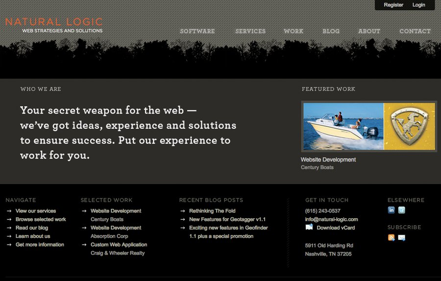 A great web design by Natural Logic, Nashville, TN: