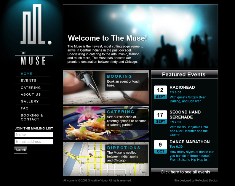 A great web design by Reflectant Studios, Cleveland, OH: